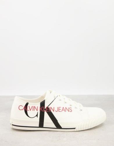 Calvin Klein Jeans - Ivano - Hvide lærredssko