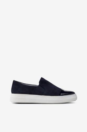 Sneakers Slip On Shiny Toe