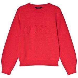 Guess Red Logo Knit Jumper 7 years