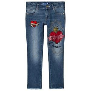 Guess Pale Blue Embroidered and Applique Jeans 14 years