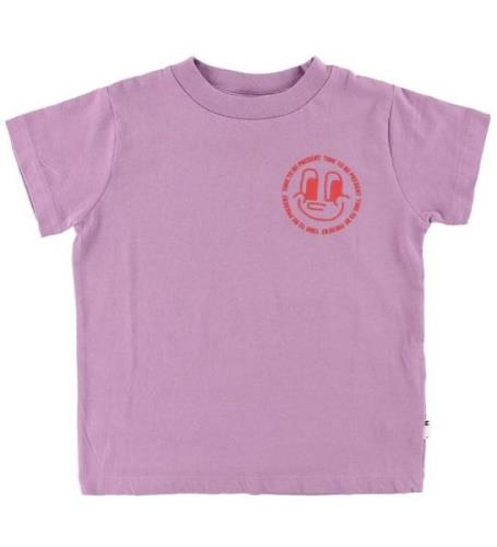 Molo T-shirt - Reeve - Time To Be Present - Lavendel
